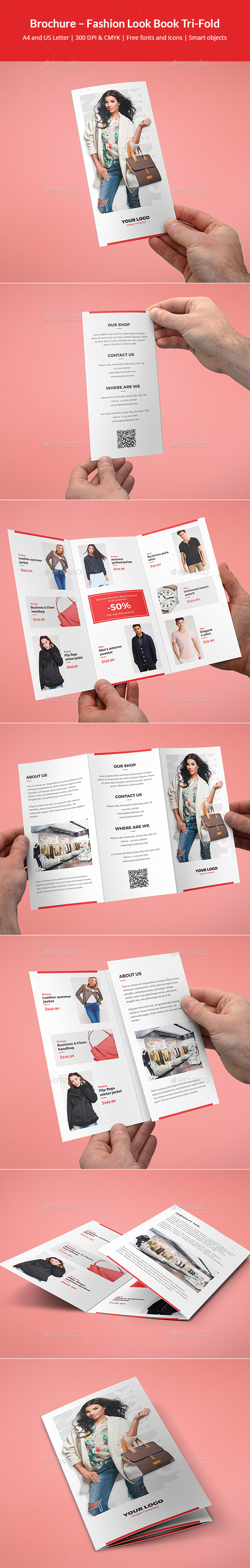 Brochure – Fashion Look Book Tri-Fold - Informational Brochures