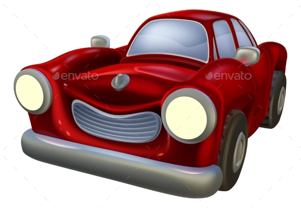 Cartoon Car - Man-made Objects Objects