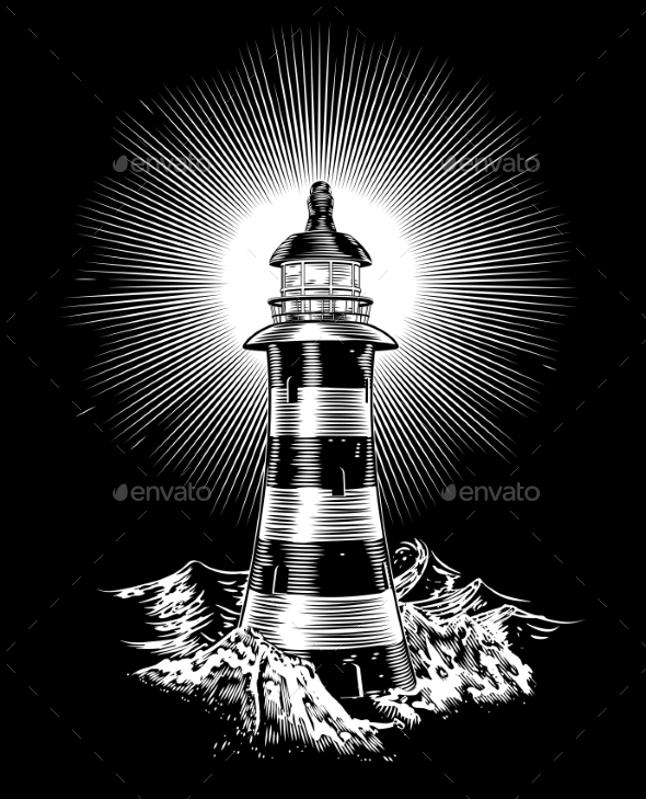 Lighthouse and Waves - Landscapes Nature