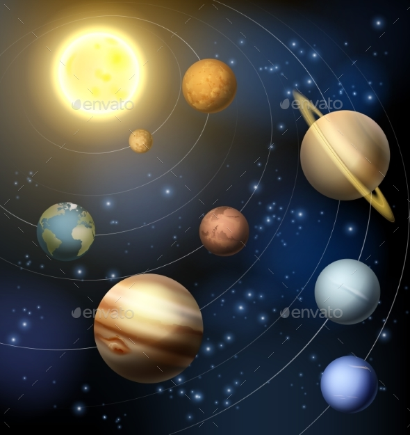 Planets of Our Solar System - Miscellaneous Vectors