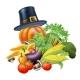 Thanksgiving Vegatables Illustration