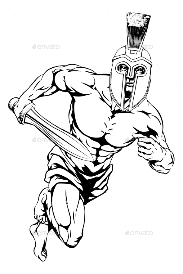 Spartan Helmet Warrior - Sports/Activity Conceptual