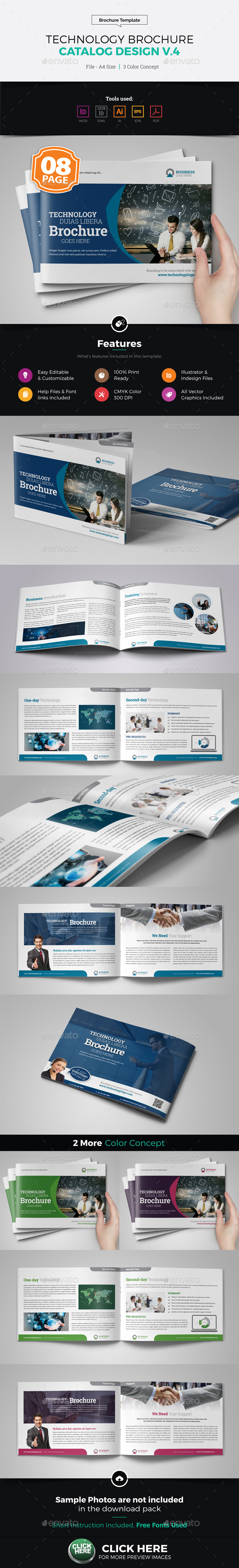 Technology Brochure Catalog Template v4 - Corporate Brochures