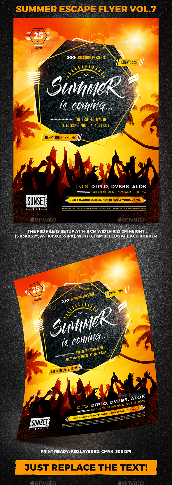 Summer Escape Party Flyer vol.7 - Clubs & Parties Events