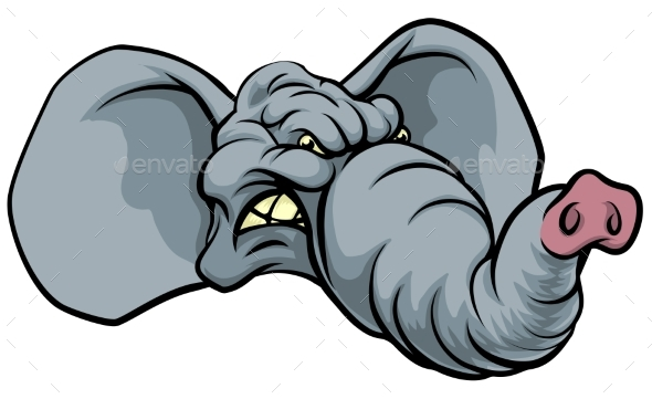 Cartoon Elephant Mascot - Animals Characters