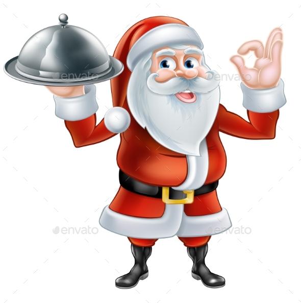 Santa Chef Christmas Dinner - Food Objects
