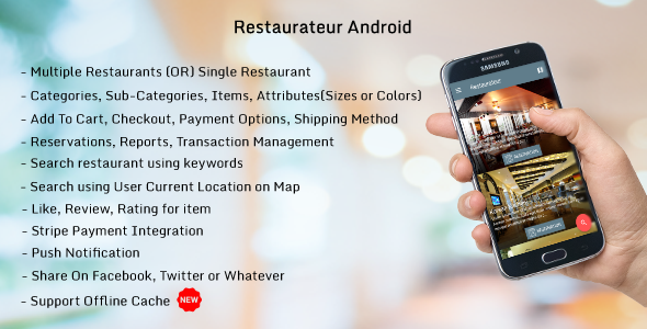 Restaurateur Android (Full Application For Restaurant Platform) nulled free download