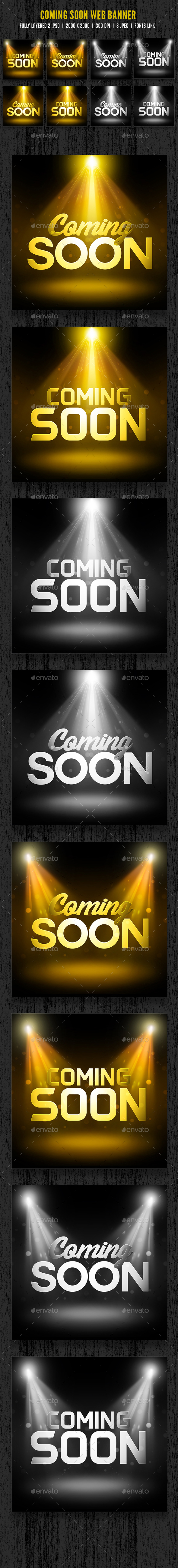 Coming Soon Banner - Banners & Ads Web Elements