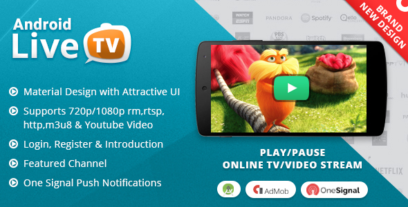 Android Live TV with Material Design - CodeCanyon Item for Sale