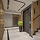 Apartments building Entrance Hall area Foyer Lobby with elevator interior design - 3DOcean Item for Sale