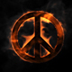 Pacifist Peace Sign On Fire - VideoHive Item for Sale