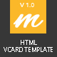 Mendy : Personal Vcard/Resume HTML5 Template - ThemeForest Item for Sale