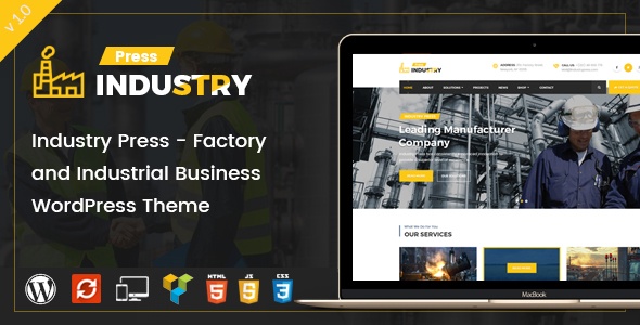 Industry Press – Factory and Industrial Business WordPress Theme