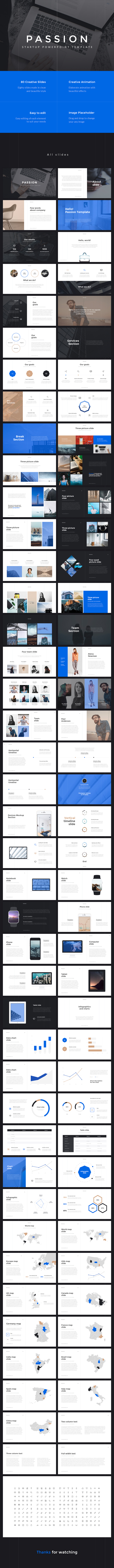 Passion Startup PowerPoint Template - PowerPoint Templates Presentation Templates