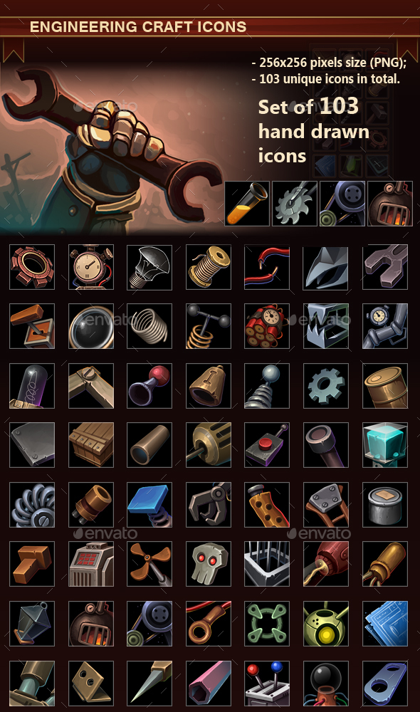 Engineering Craft Icons - Miscellaneous Game Assets