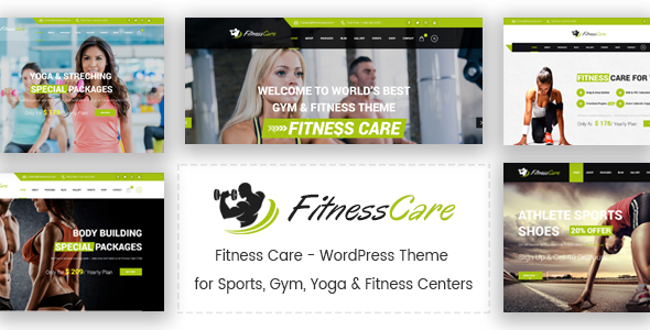 Image of Fitness Care - WordPress Theme for Sports, Gym, Yoga & Fitness Centers