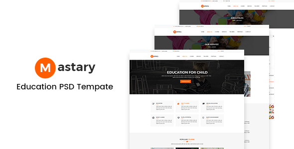 Mastary – Education PSD Template