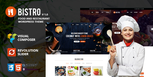 Bistro – Food & Restaurant WordPress