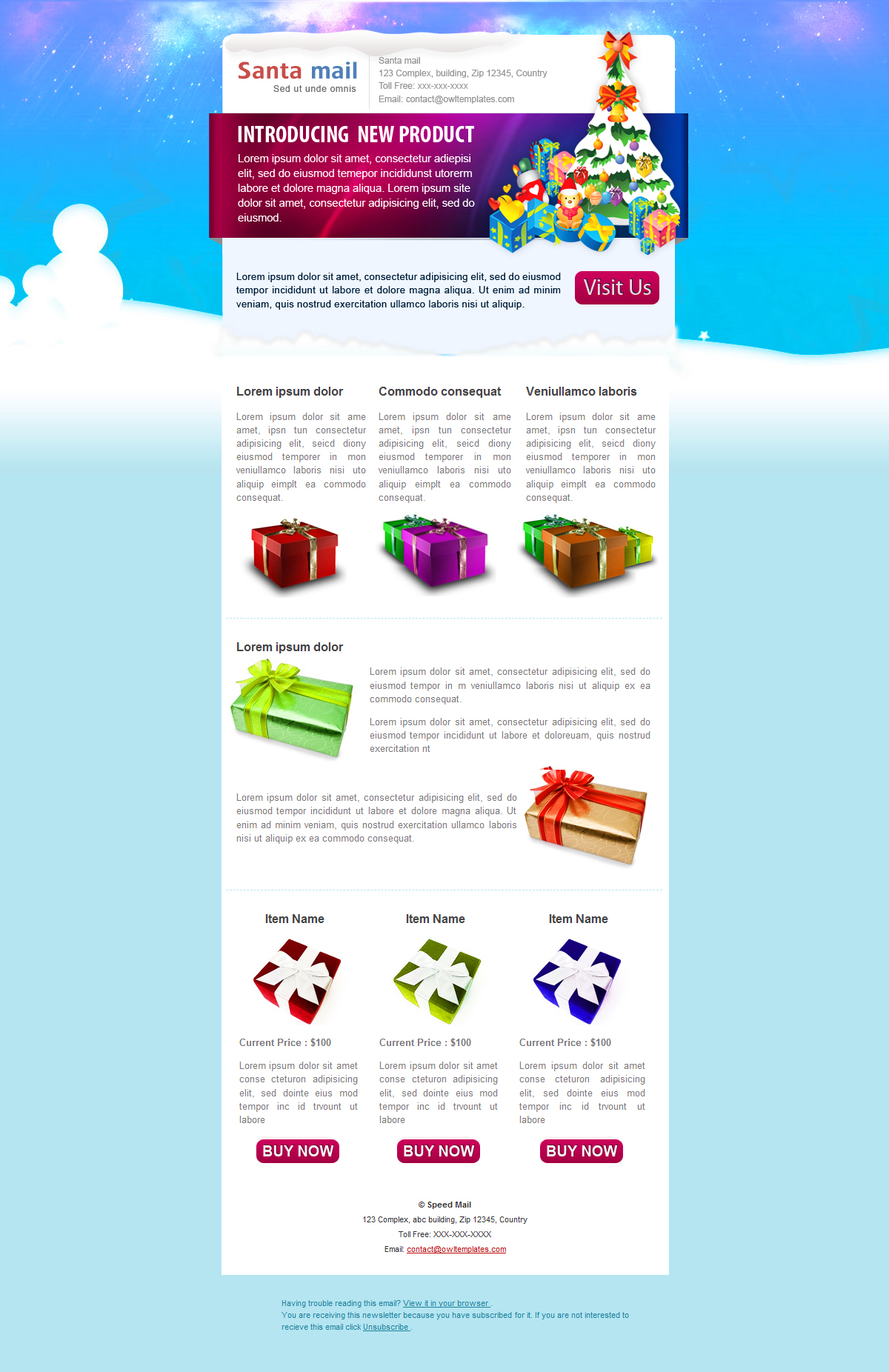 Free Download SantaMail - Newsletter - Email Template Nulled Latest Version