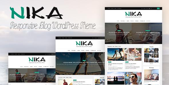 Nika – Responsive Personal Blog WordPress Theme