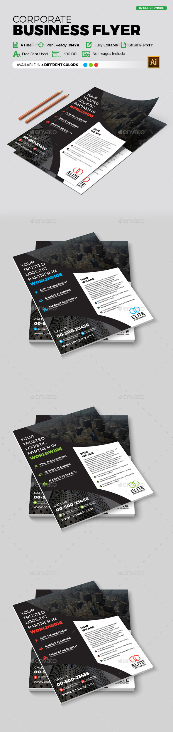 Flyer – Multipurpose 302 - Flyers Print Templates