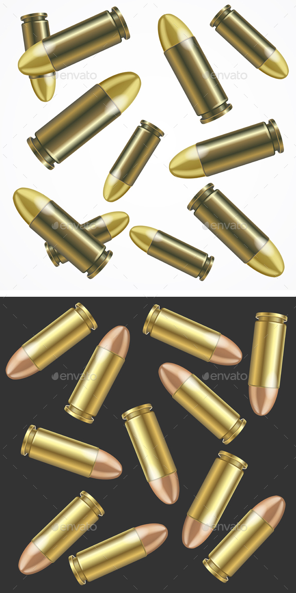 Realistic Bullet Pattern Background - Backgrounds Decorative