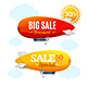 Sale Concept Labels with Airship - GraphicRiver Item for Sale