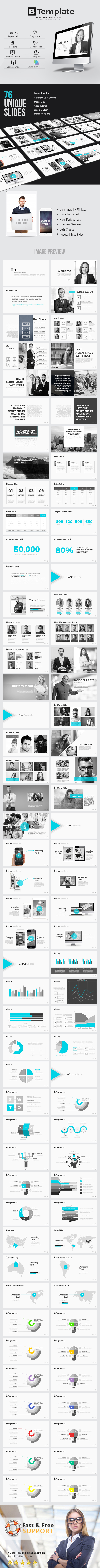 B Template Power point Presentation - Business PowerPoint Templates