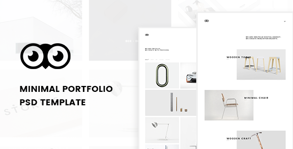 Owlfolio – Creative Portfolio PSD Template with PSD Files