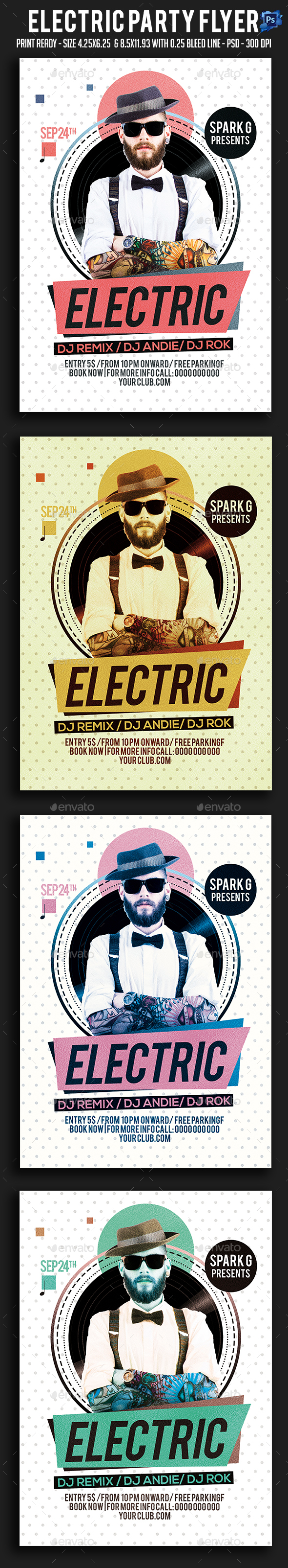 Electric Party Flyer - Clubs & Parties Events
