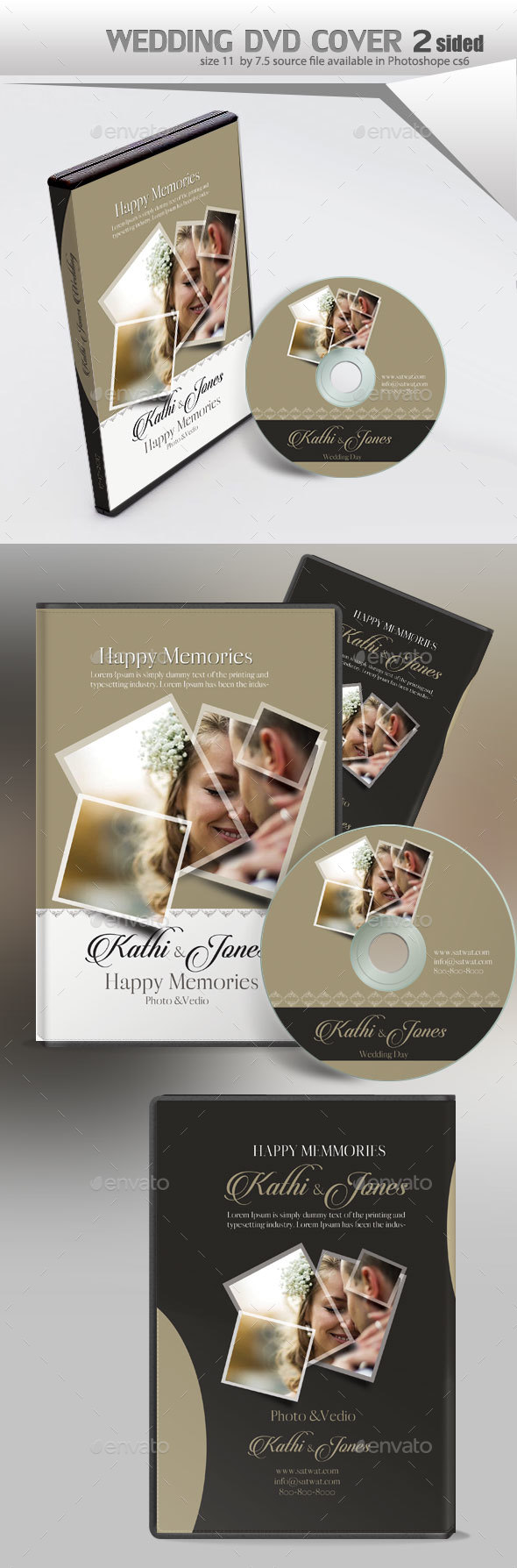 Wedding DVD Cover - CD & DVD Artwork Print Templates