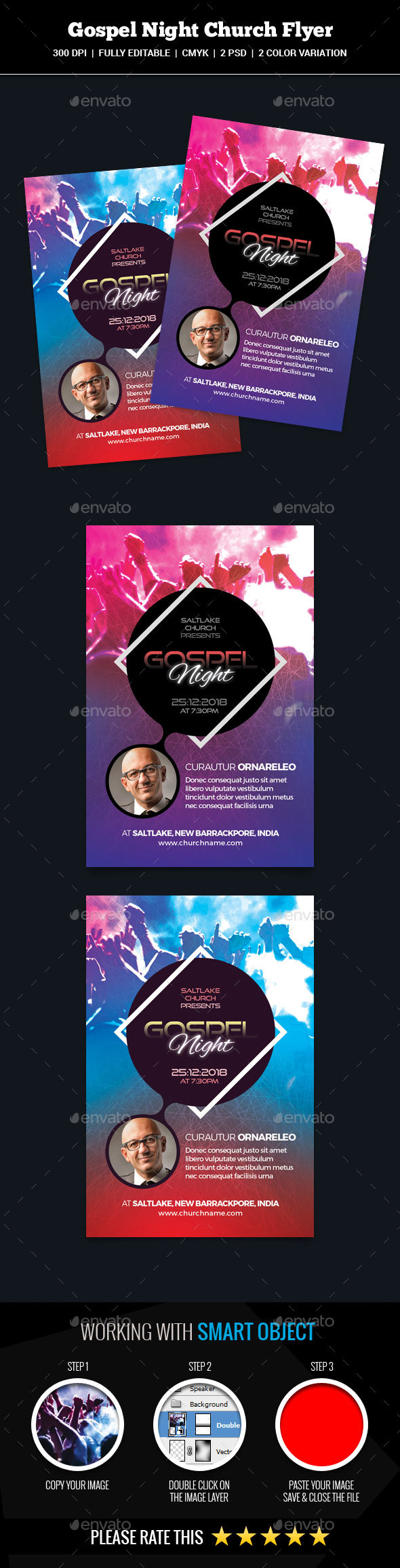 Gospel Night Church Flyer - Church Flyers