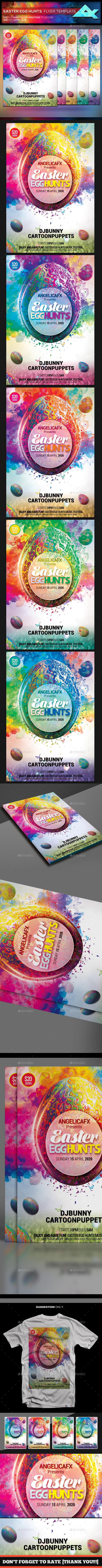 Easter Egg Hunts Festival Flyer Template - Flyers Print Templates