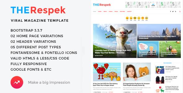 TheRespek – Viral Bimber, Buzzy Magazine HTML5 Template