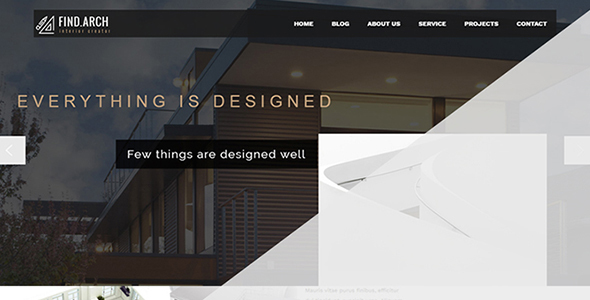 Find ARC – Interior Design, Architecture – WordPress Theme