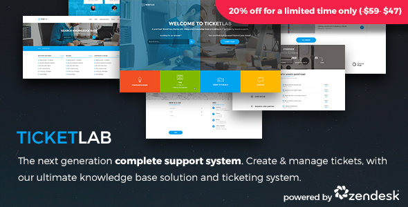 TicketLab – Ticketing | Support | Knowledge Base WordPress Theme