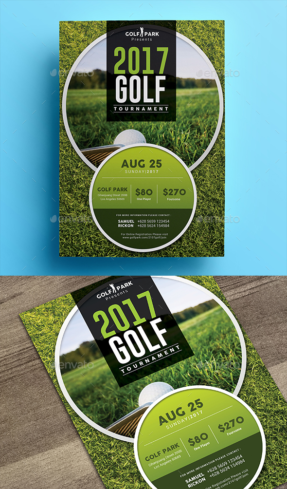 Golf tournament flyer 03 by aarleykaiven graphicriver for Golf tournament program template
