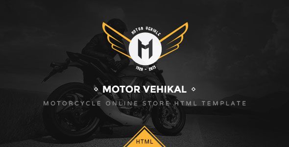 Motor Vehikal - Motorcycle Online Store HTML Template - Retail Site Templates