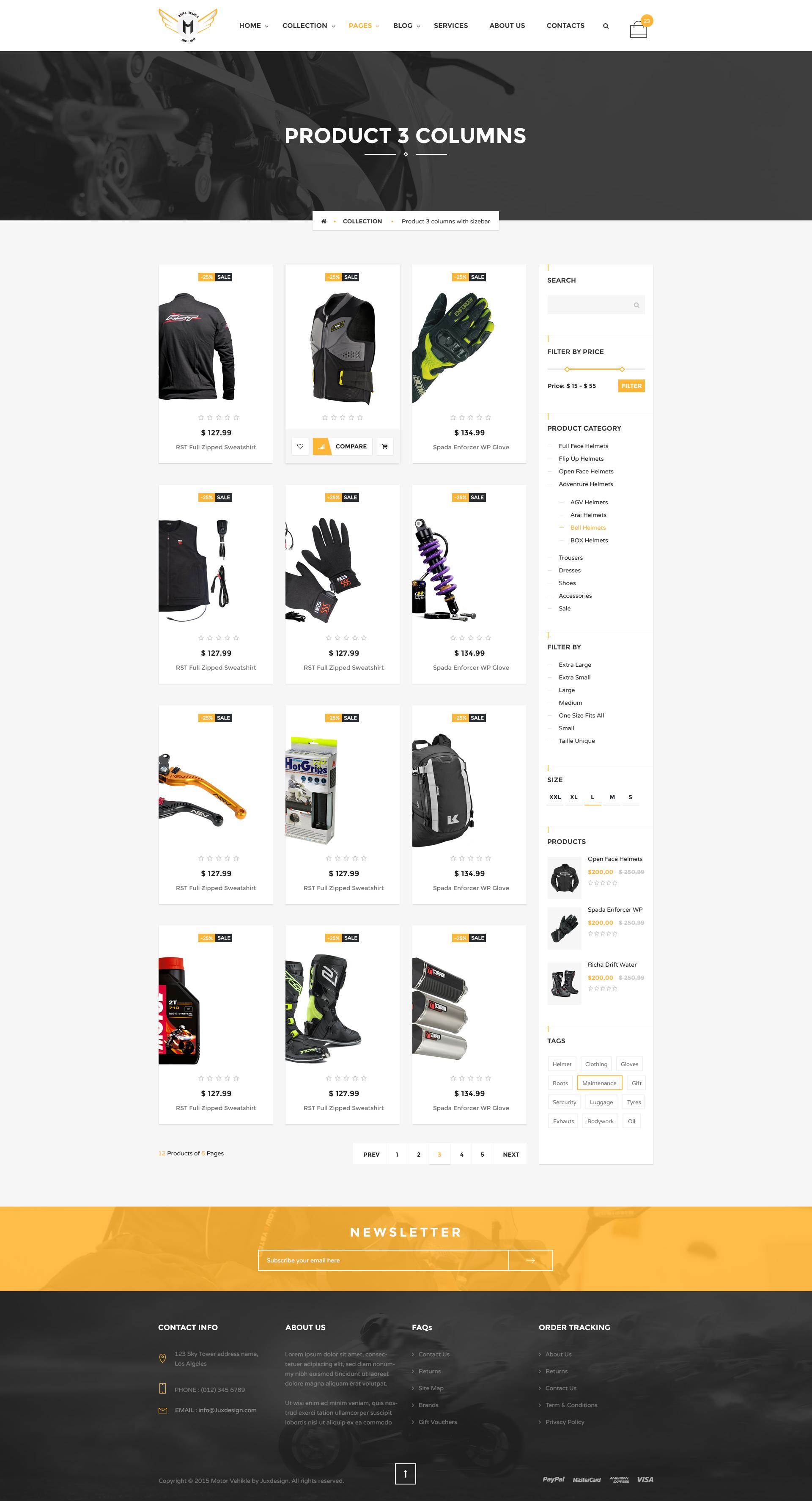 Motor Vehikal Motorcycle Online Store Html Template By Yolopsd