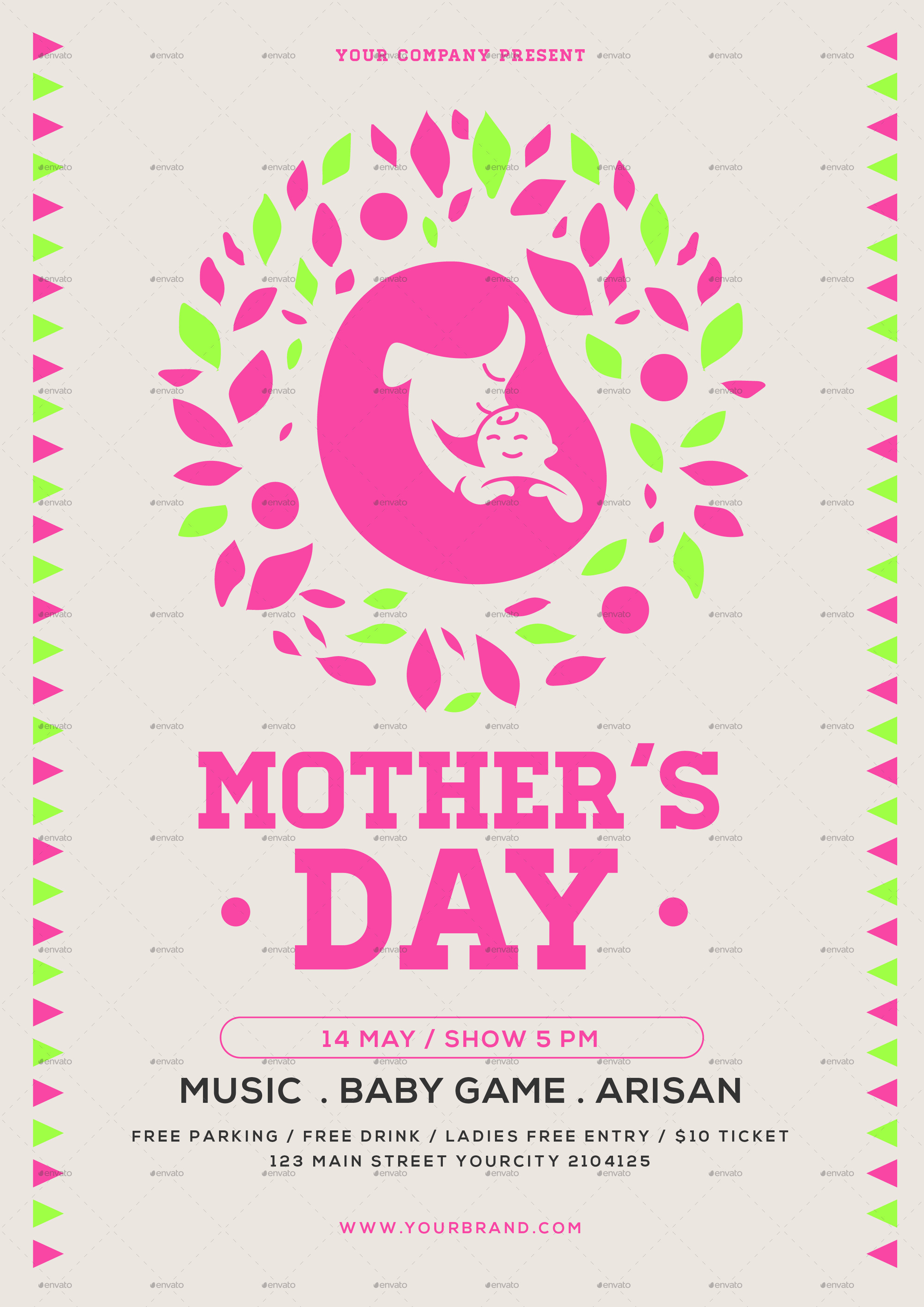 Simple Mothers Day Flyer by tokosatsu – Mothers Day Flyer