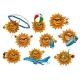 Summer Sun Cartoon Mascot Set - GraphicRiver Item for Sale