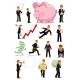 Businessman Character in Different Situations Set - GraphicRiver Item for Sale