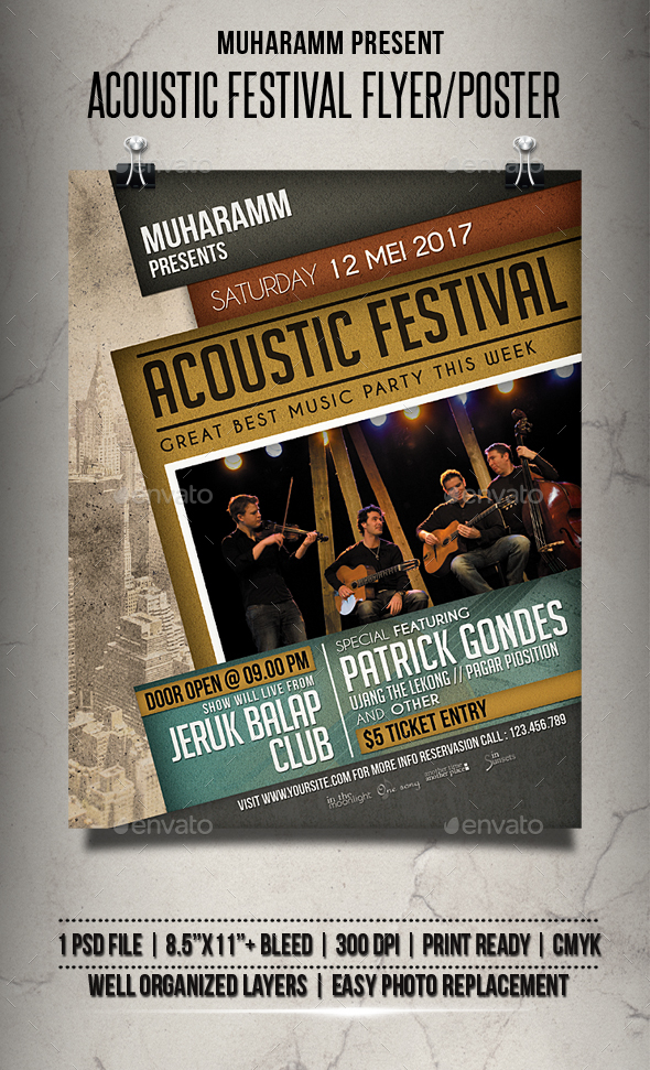 Acoustic Festival Flyer / Poster - Events Flyers