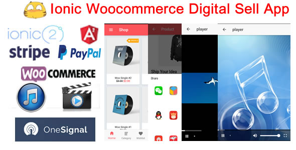 Ionic2WooDigitalStore-Ionic Woocommerce Digital Sell Store App - CodeCanyon Item for Sale