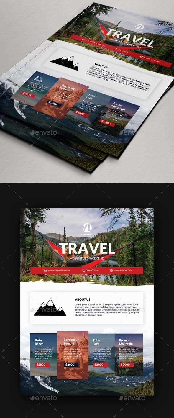 Travel Tours Flyer Template V2 - Holidays Events