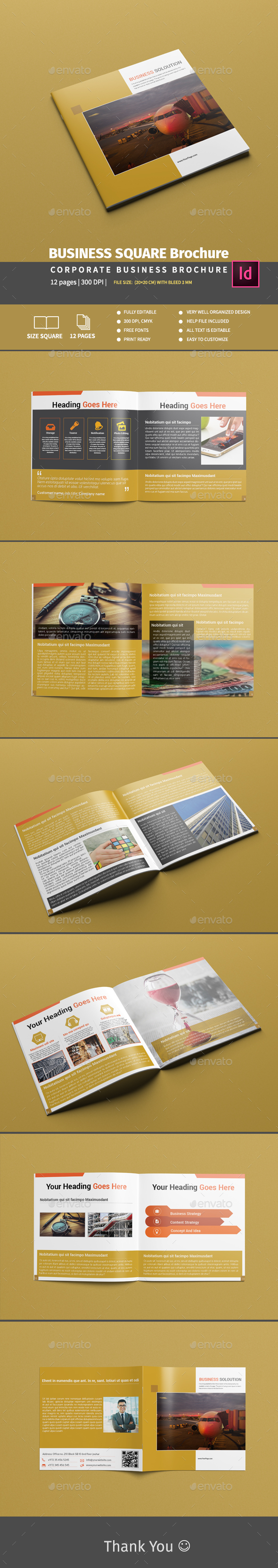 BUSINESS SQUARE Brochure - Brochures Print Templates
