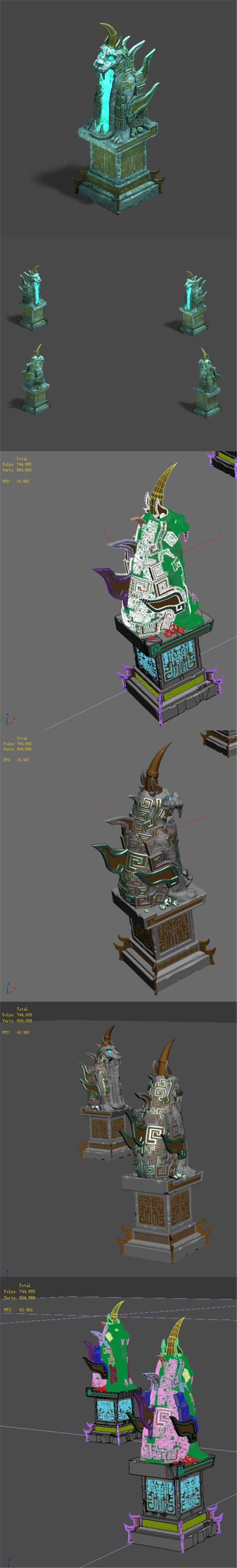 Dungeon - Statue - 3DOcean Item for Sale