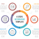 Circle Infographics with Six Steps - GraphicRiver Item for Sale