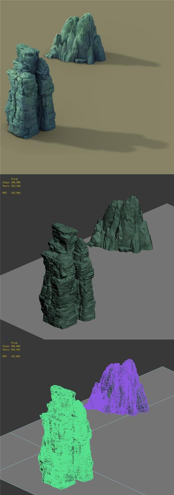 Terrain - Stone 02 - 3DOcean Item for Sale