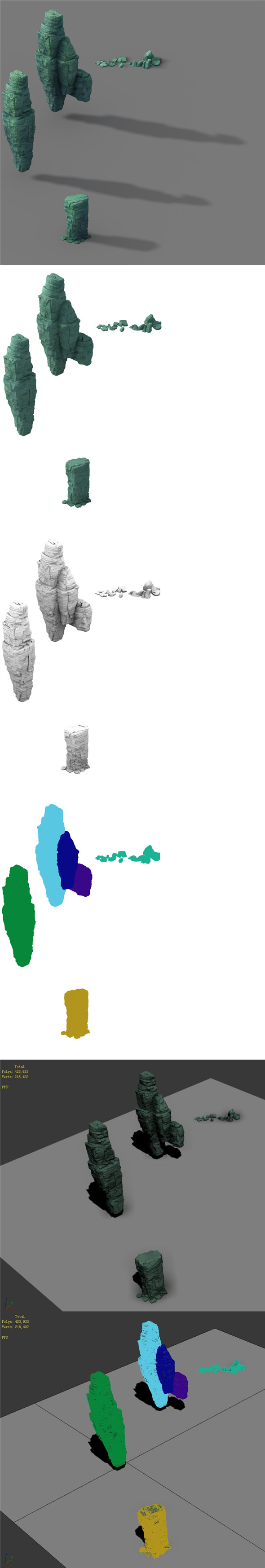 Terrain - Stone 03 - 3DOcean Item for Sale